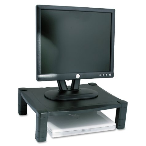 Kantek Single Platform Adjustable Monitor Stand, Black