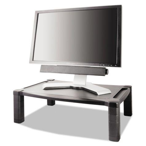 Kantek Height-Adjustable Two-Level Stand, Black