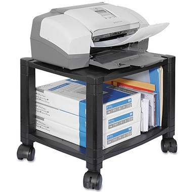 Kantek - Mobile Printer Stand, Two-Shelf, 17w x 13-1/4d x 14-1/8h -  Black