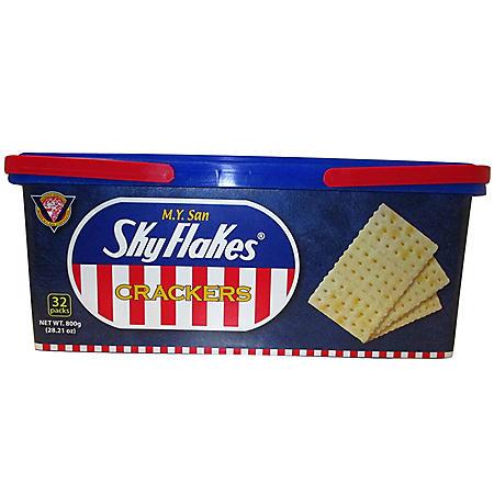 M.Y. San SkyFlakes Crackers (0.88 oz., 32 pk.)