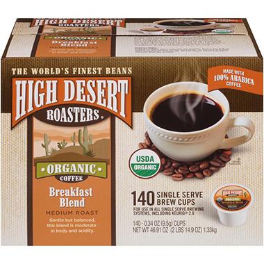 High Desert Roasters Breakfast Blend K Cups 140 Ct