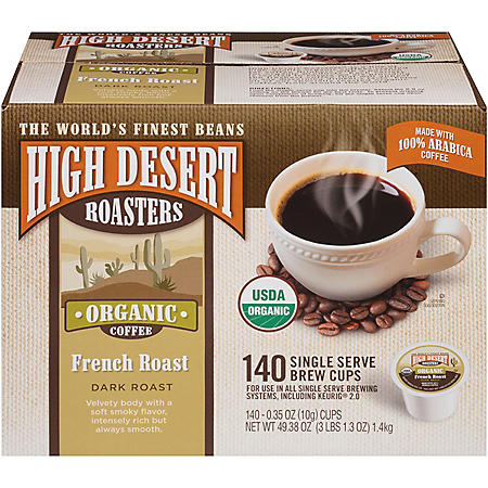 High Desert Roasters French Roast Single Serve Pods (140 ct.)