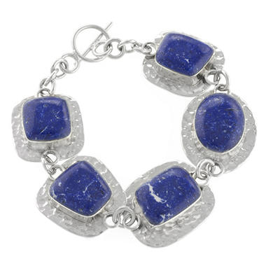 Sterling Silver and Sodalite Bracelet