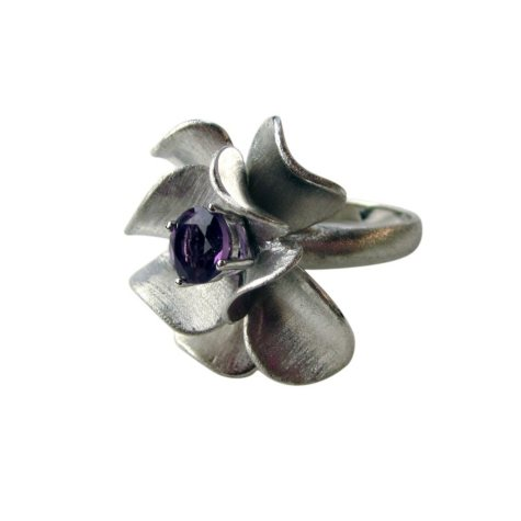 925 RING AMY FLOWER SZ 9