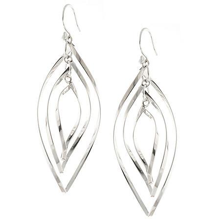 Sterling Silver Fashion Drop Earrings