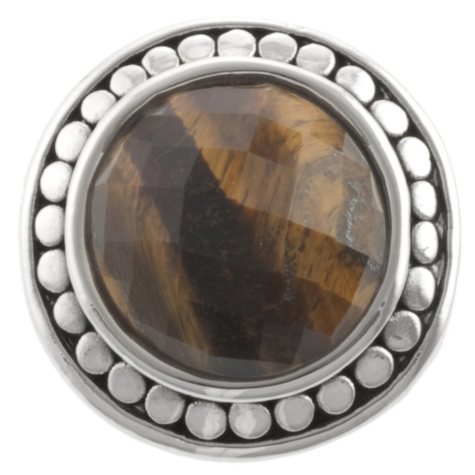 Faceted Tigers Eye Ring in Sterling Silver