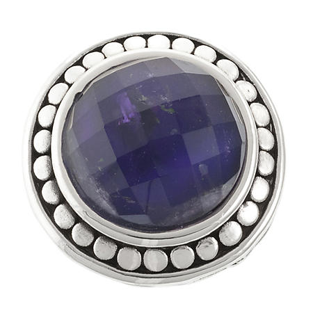 Faceted Amethyst Ring in Sterling Silver