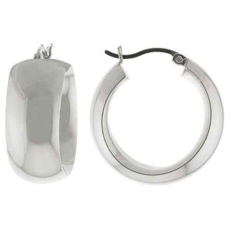 Sterling Silver Hoop Earrings - 25mm x 10mm
