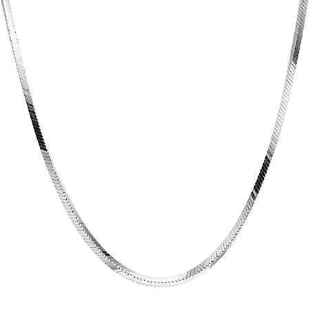 Italian Sterling Silver Square Snake Chain