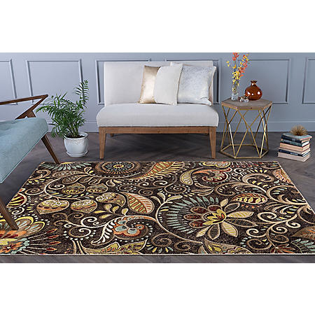 Giada Paisley Area Rug Brown Sam S Club