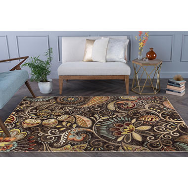 Giada Paisley Area Rug - Brown