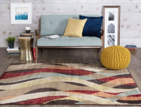 Winona Ribbons Area Rug