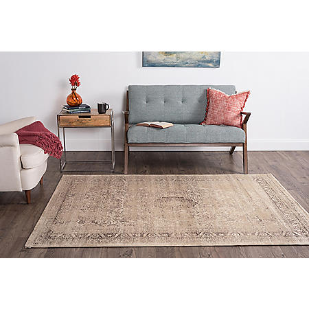 Concept Medallion Area Rug, Cream (Assorted Sizes)
