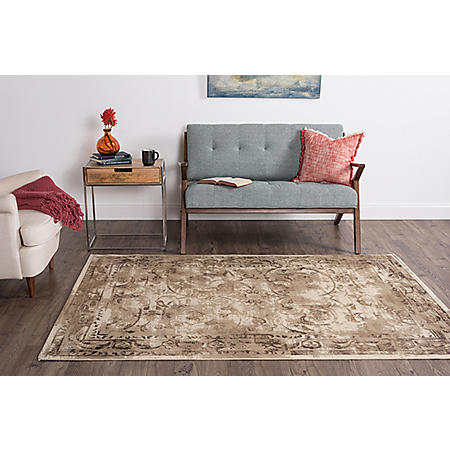 Concept Vines Area Rug, Beige (Assorted Sizes)