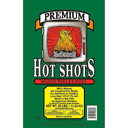 Hot Shots® Premium Wood Pellet Fuel - 25 lbs. - Sam's Club