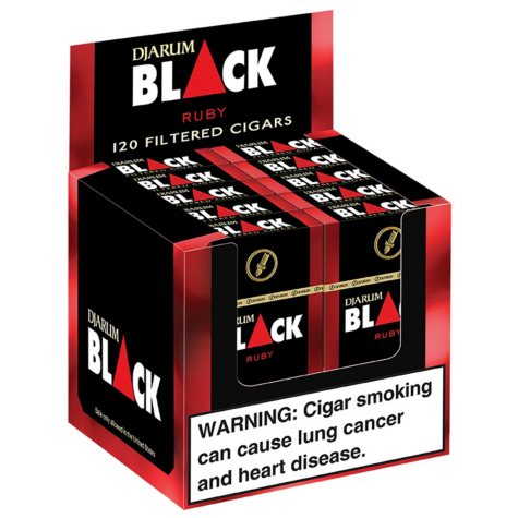Djarum Black Ruby Filtered Cigars (10 ct., 12 pk.)
