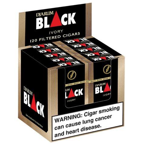 Djarum Black Ivory Filtered Cigars (10 ct., 12 pk.)