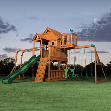 swingset set prices two rainbow madison one backyard visit solar up of l fun wi with superstores lights swing our light