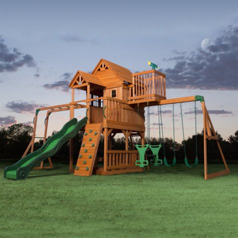 Backyard Discovery Skyfort II Cedar Swing Set/Play Set
