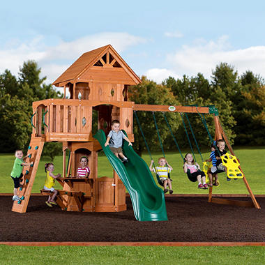 Backyard Discovery Woodland Cedar Swingset Sam S Club