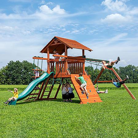 Backyard Discovery Mountaineer Deluxe Cedar Swing Set / Playset