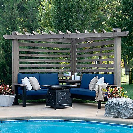 Backyard Discovery Cedar Cabana Pergola Lounger