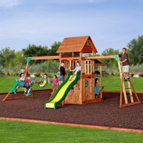 Backyard Discovery Cedar View Swing Set swing sets - outdoor play - sam's club