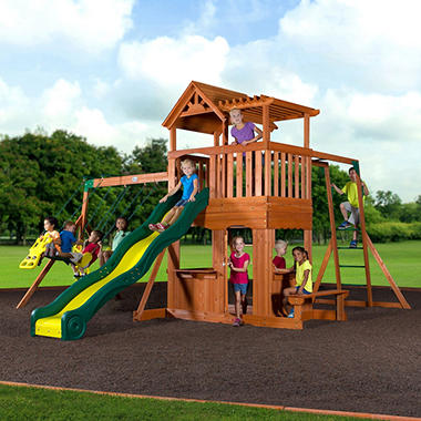 Backyard Play backyard discovery thunder ridge cedar swing set/play set - sam's club