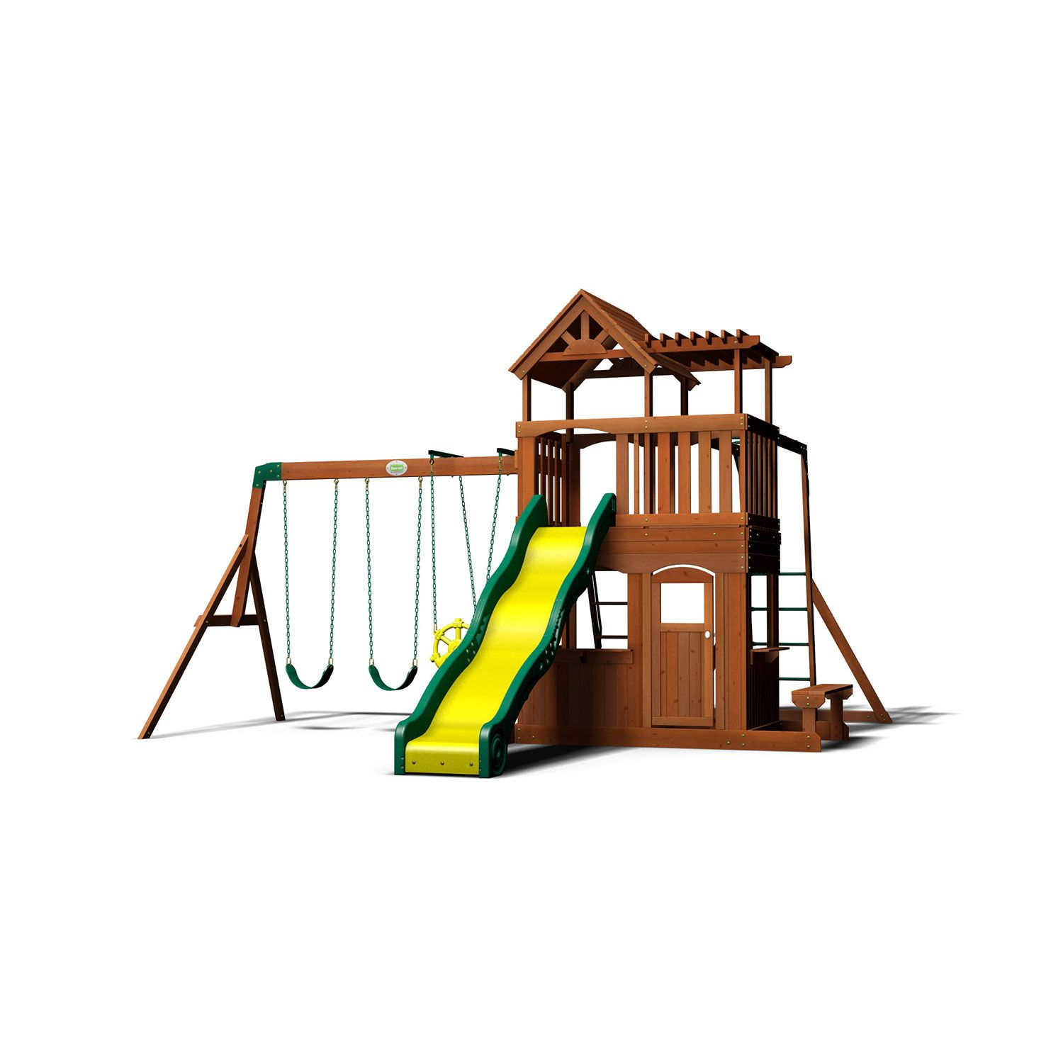 Backyard Discovery Thunder Ridge Cedar Swing Set Play Set Sam S Club
