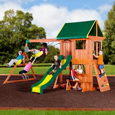 backyard discovery somerset cedar swing set - Cedar Swing Sets