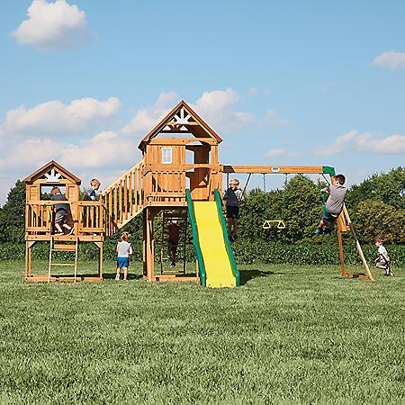 Backyard Discovery Malibu Cedar Swing Set
