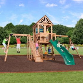 Backyard Discovery Monterey Cedar Swing Play Set Sam S Club