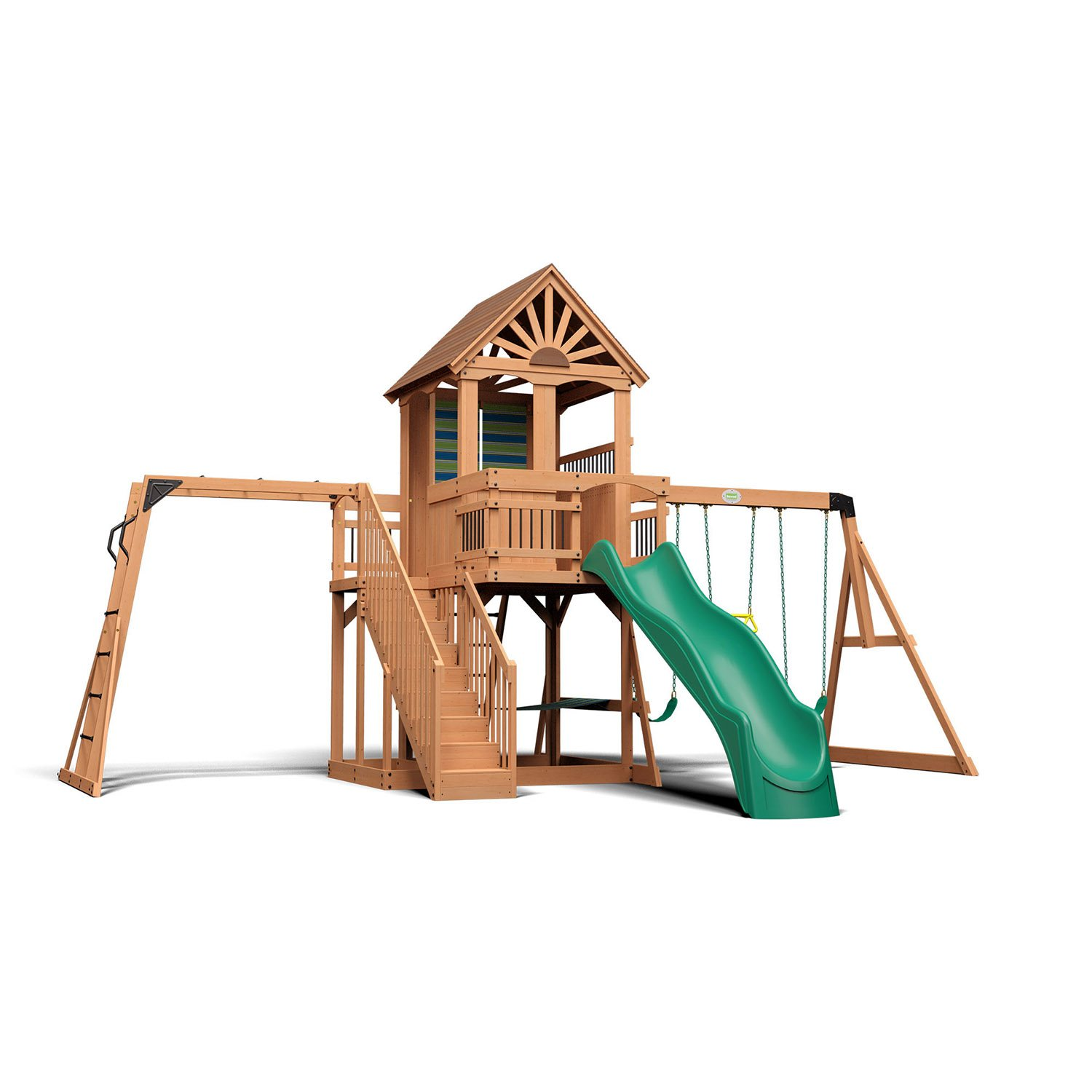Backyard Discovery Oceanview Cedar Swing Set Sam S Club