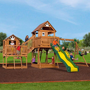 Backyard Discovery Malibu Cedar Swing Set Sam S Club