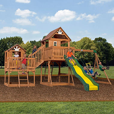 Backyard Equipment backyard discovery malibu cedar swing set - sam's club