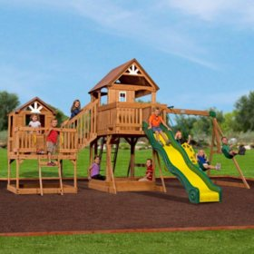 Take $300 off a cedar swing set