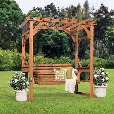 backyard discovery deluxe pergola swing sam 39 s club. Black Bedroom Furniture Sets. Home Design Ideas