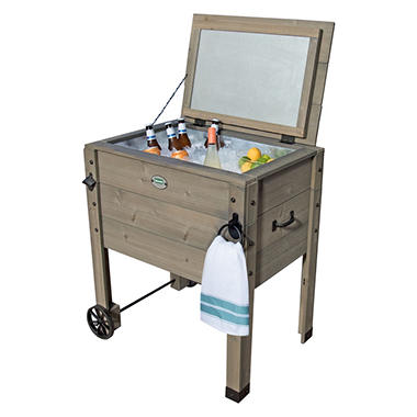 Backyard Discovery Outdoor Cooler Stand With Cooler