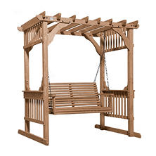 Backyard Discovery Hanging Pergola Swing with Traditional Finish
