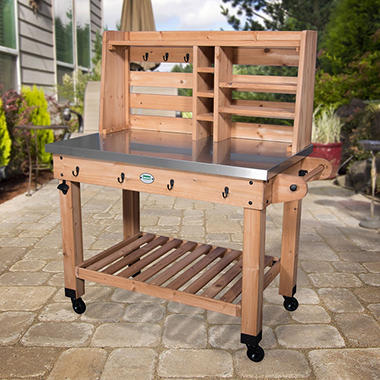 Lovely Patio Serving Cart