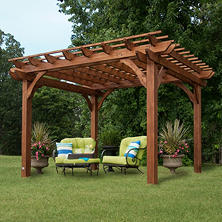 10' x 12' Cedar Pergola with Installation
