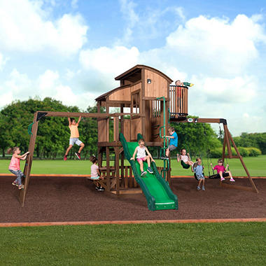 Backyard Equipment backyard discovery skyfort elite swing set - sam's club