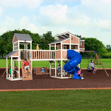 Backyard Discovery Skyline Retreat Cedar Swing Set Playset Sam S Club