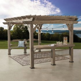 Backyard Discovery 14 x 10 Pergola with Electric Capabilities (Various Colors)