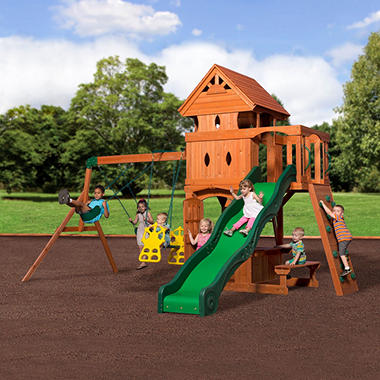 Backyard Play backyard discovery monterey cedar swing/play set - sam's club