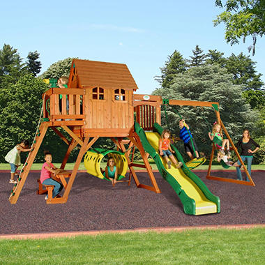 Backyard Discovery Cedar View Swing Set oxford cedar swing set - sam's club