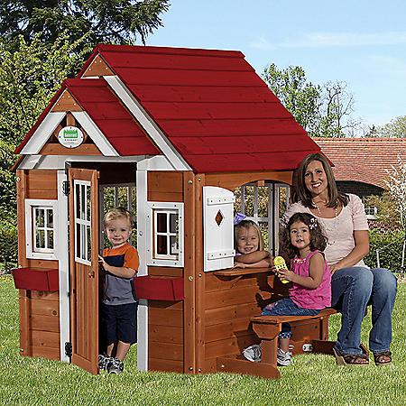 Backyard Discovery™ Cedar Chateau Playhouse with Toys