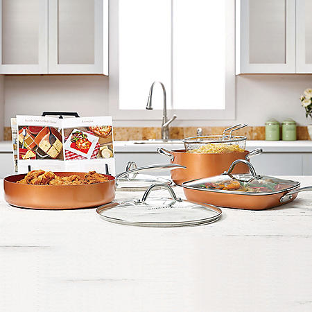 Copper Chef Pro 8-Piece Heavy-Duty Cookware Set