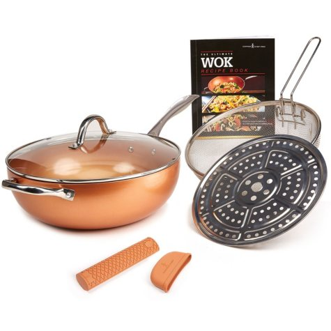 "Copper Chef Pro XL Wok Set, 12"""