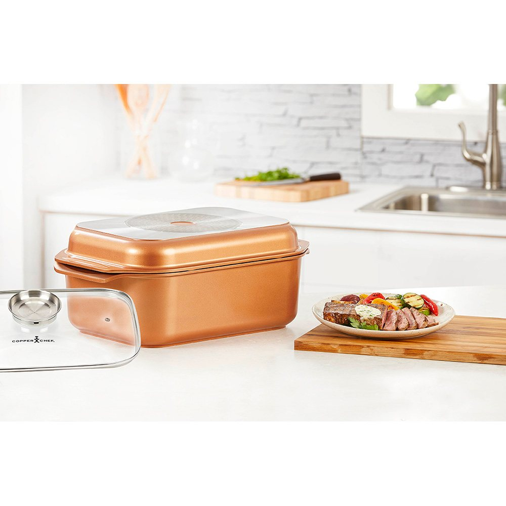 Copper Chef Wonder Cooker Roasting Pan 12 5 Qt Multi Use Cookware